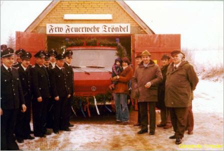 Übergabe des neuen Feuerwehrfahrzeuges 1978